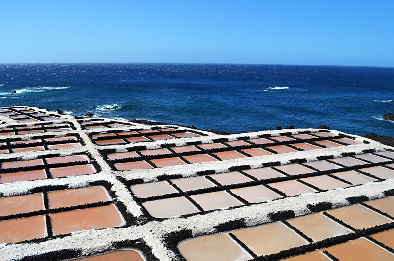Red salt pans, Las Salinas, Fuencaliente, La Palma