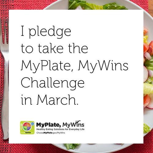 MyPlate, MyWins Challenge pledge
