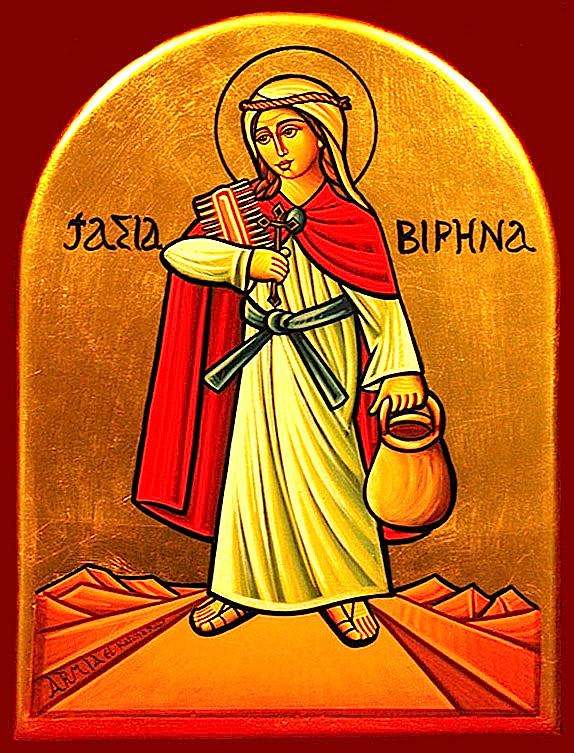 Верена Золотурнская, Цурцахская, отшельница преподобная. Коптская икона.