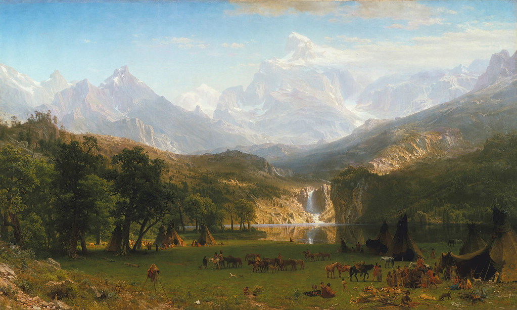 The Rocky Mountains, Lander's Peak by Albert Bierstadt, 1863