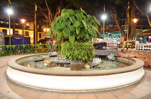 Yam fountain, Plaza del Charco, Puerto de la Cruz, Tenerife
