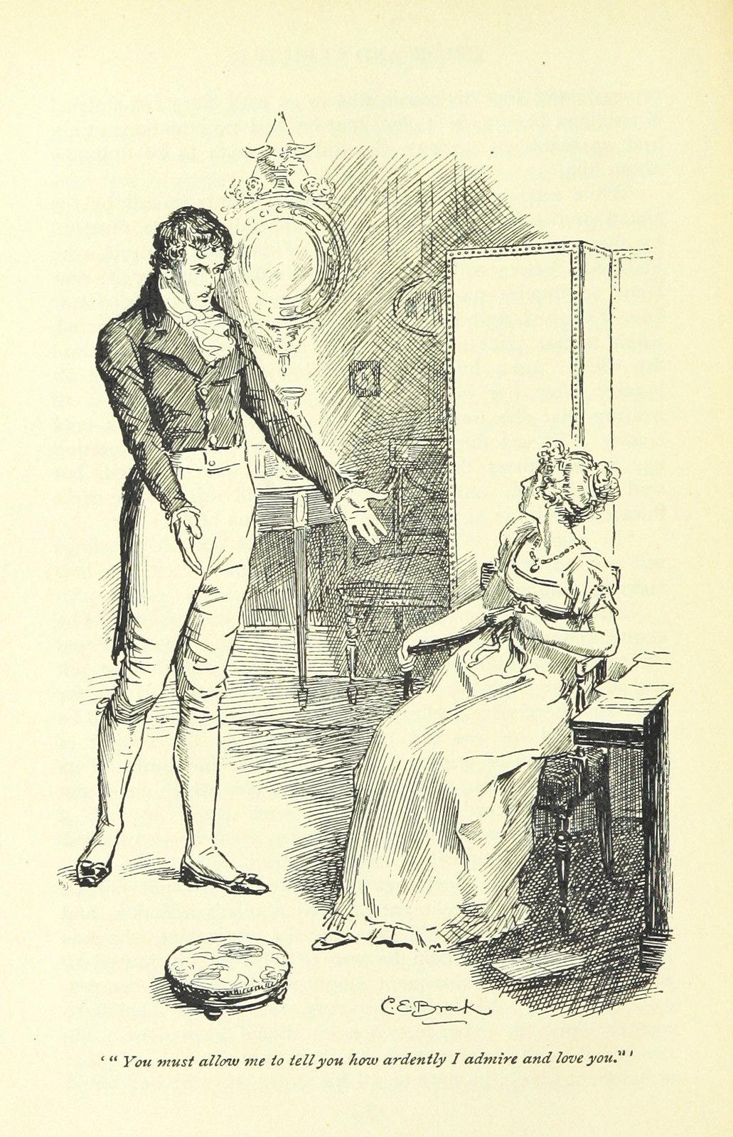Scene from Jane Austen's Pride and prejudice.