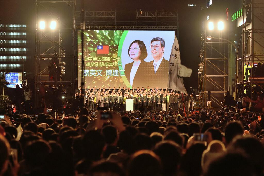台灣產生了第一位由人民直選「女性」領導人。(攝影:宋小海)
