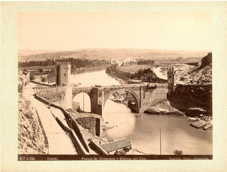 Puente de Alcántara hacia 1897 por Rafael Garzón