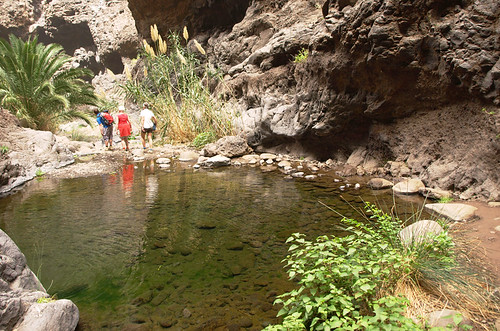 Pool across the Masca barranco, Tenerife