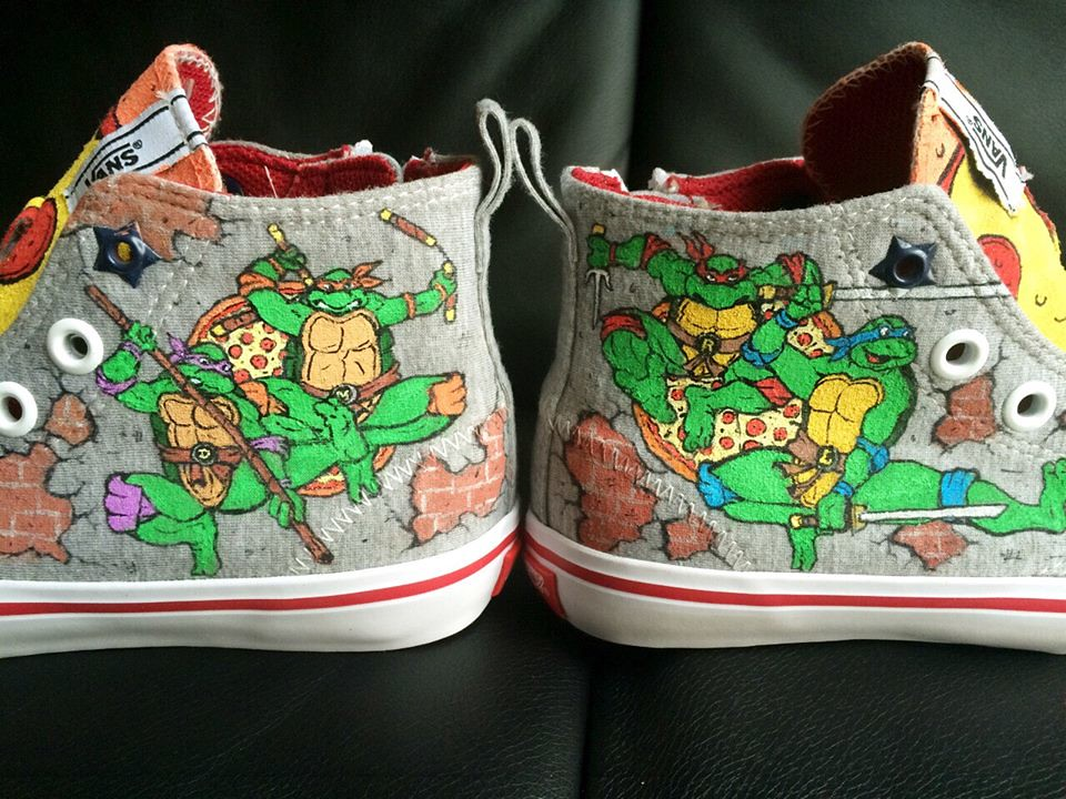 Custom shoe art by Danny P - Teenage Mutant Ninja Turtles