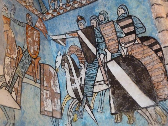 Pinturas góticas de la Capilla de San Pedro (o del tesoro) en el Monasterio de Valbuena (Valladolid)