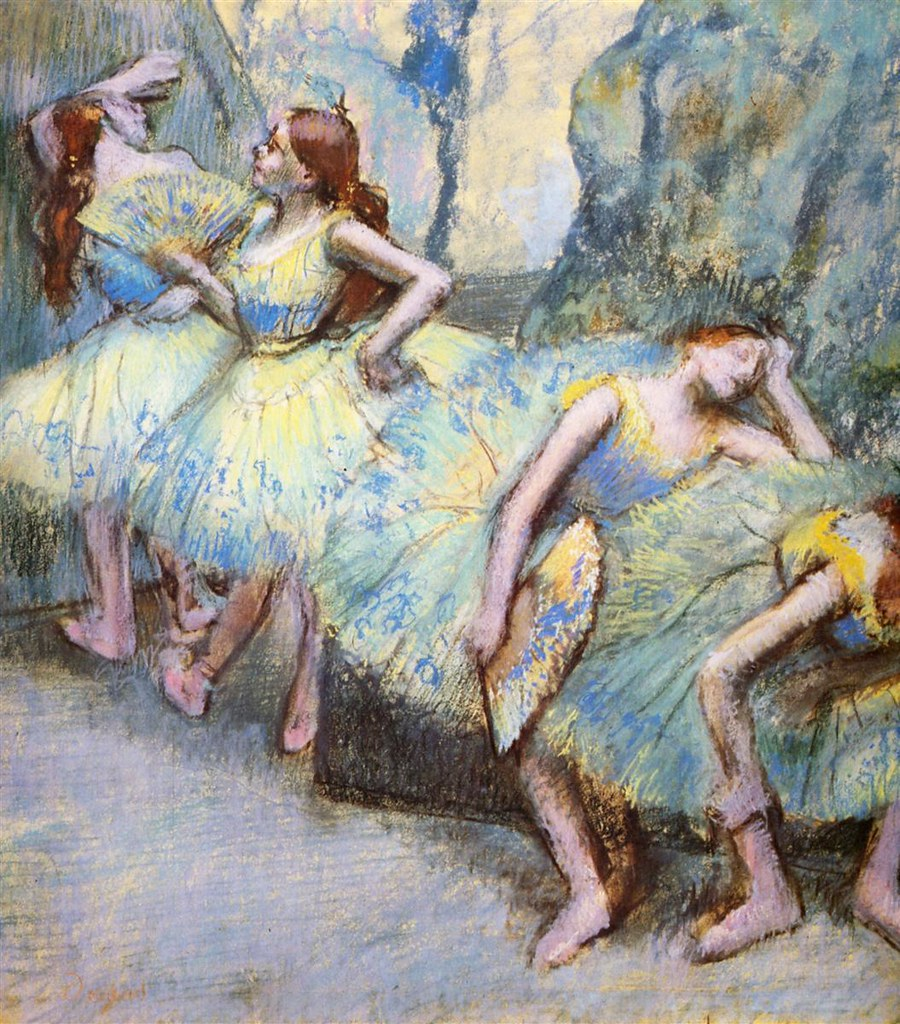 Ballet Dancers in the Wings by Edgar Degas, 1900
