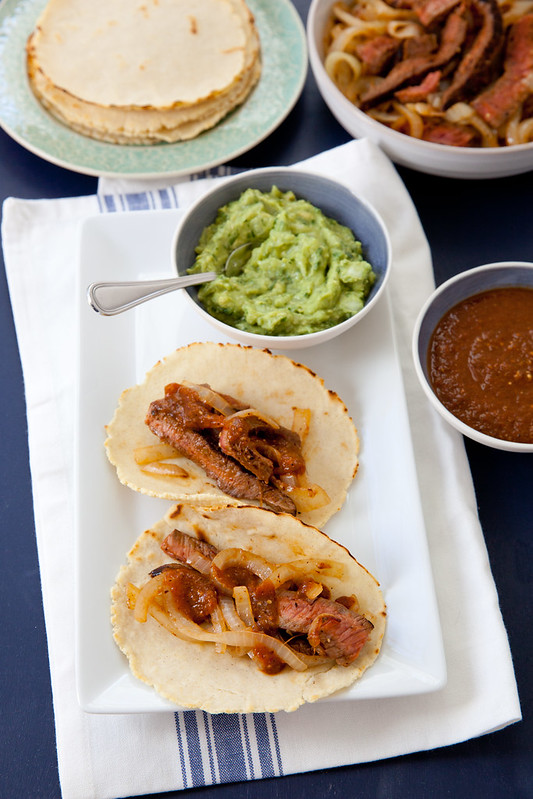 Chipotle Beef Tacos with Smoky Tomatillo Salsa