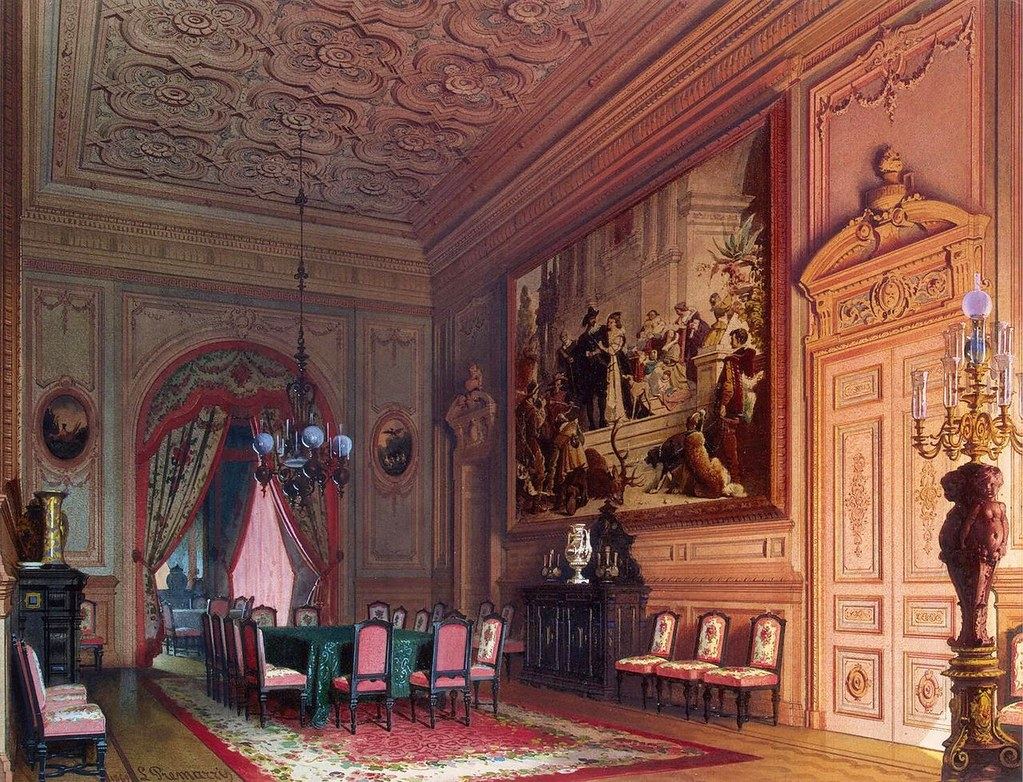 The mansion of von Stieglitz: The Dining-room, 1869