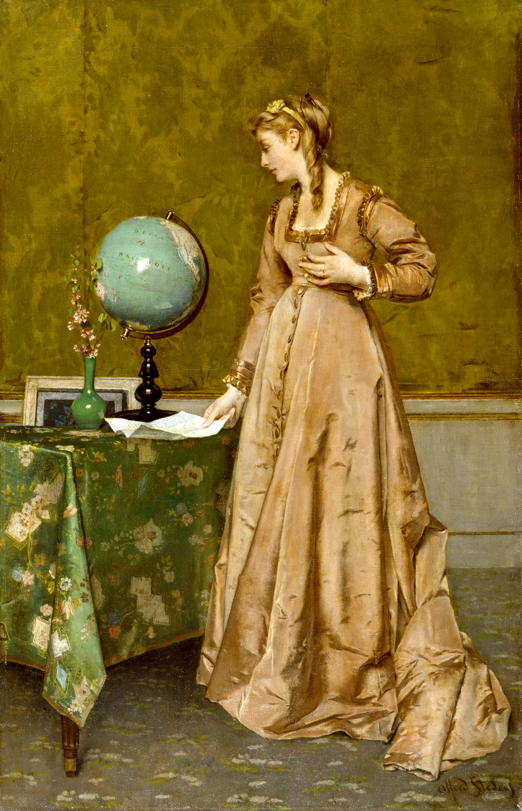 News from Afar by Alfred Stevens, 1865