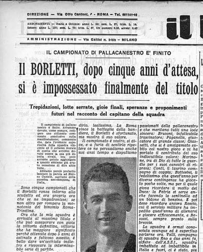Olimpia @ 80: il primo scudetto di Castelli