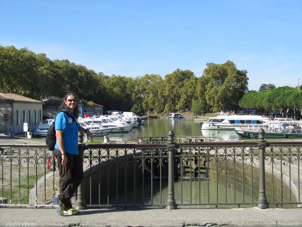 Canal de Midi o mediodia en Carcasona