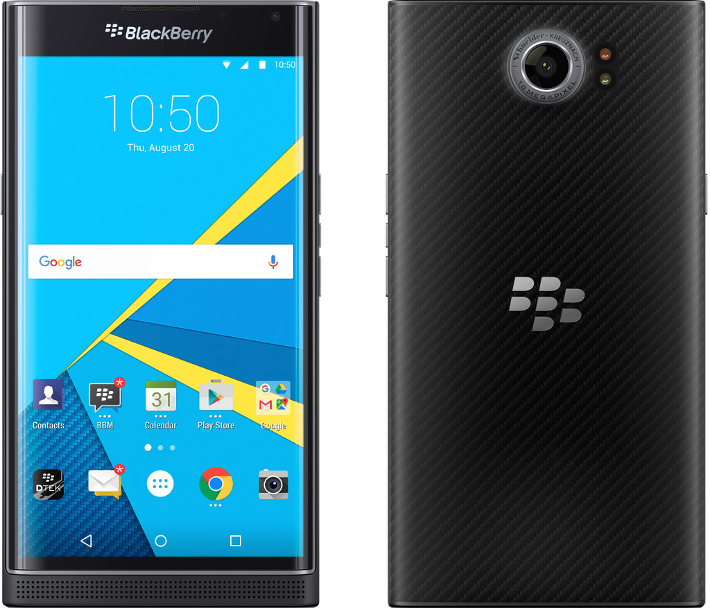 BlackBerry PRIV 実物大の製品画像