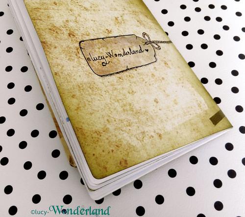 dettaglio della timbrata sul retro della copertina de traveler's notebook della Webster's pages