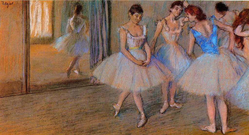 Dancers in a Studio by Edgar Degas, c.1884