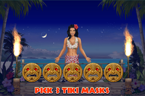 free Hawaiian Treasure bonus feature prize