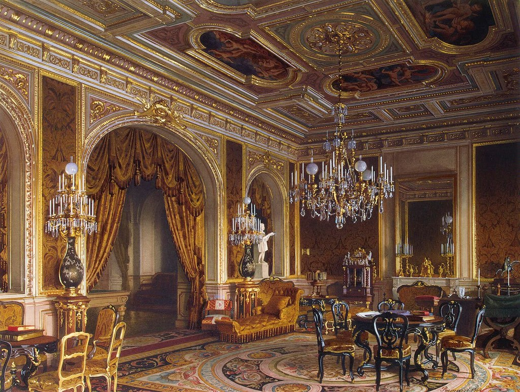The Russian mansion of von Stieglitz: The Main Study. 1869