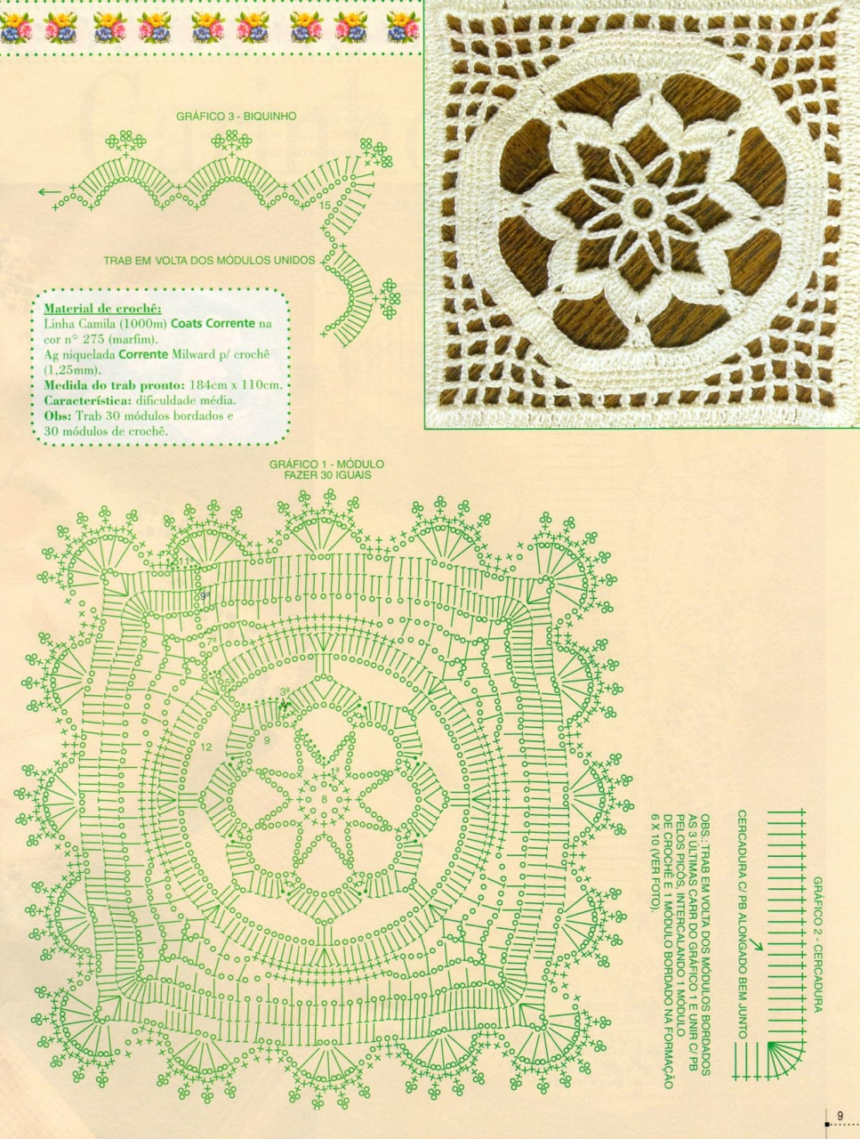 Exceptionnel nappes & napperons au crochet - Le monde-creatif RO26