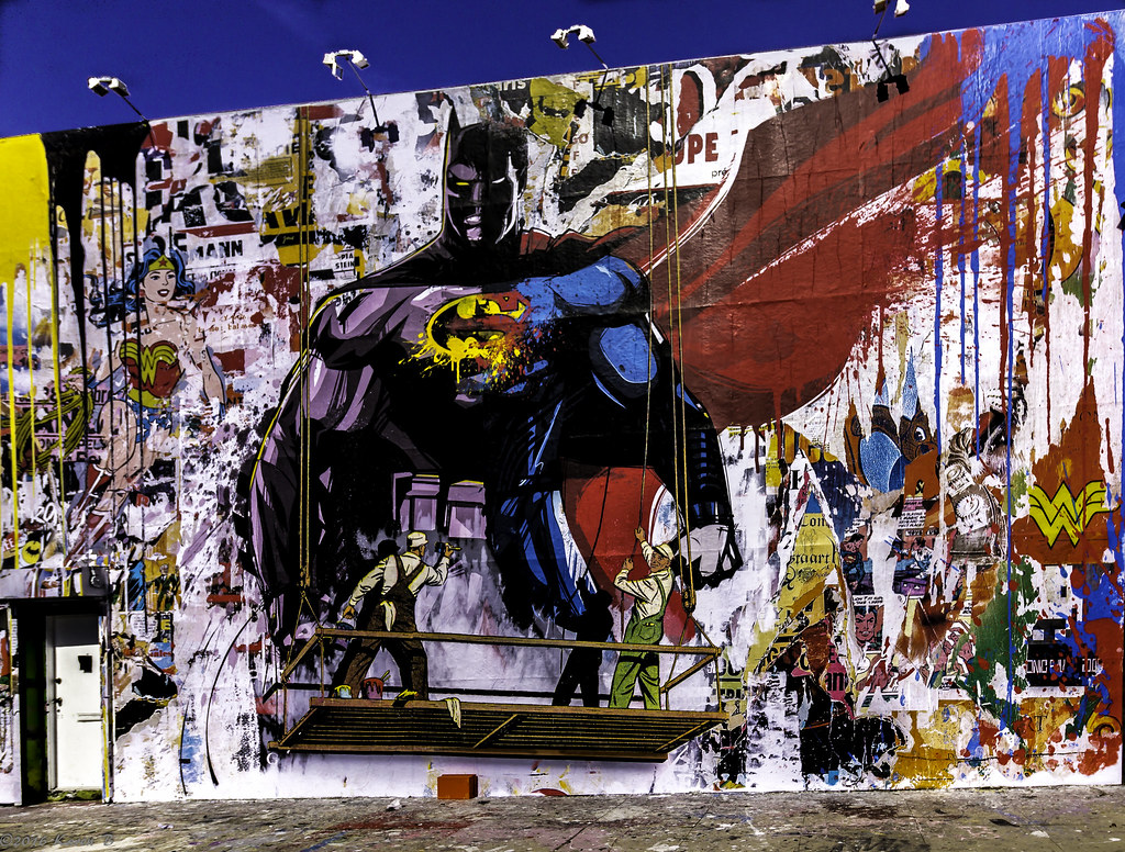 41/116 Street Art Batman V Superman by Mr. Brainwash | Flickr