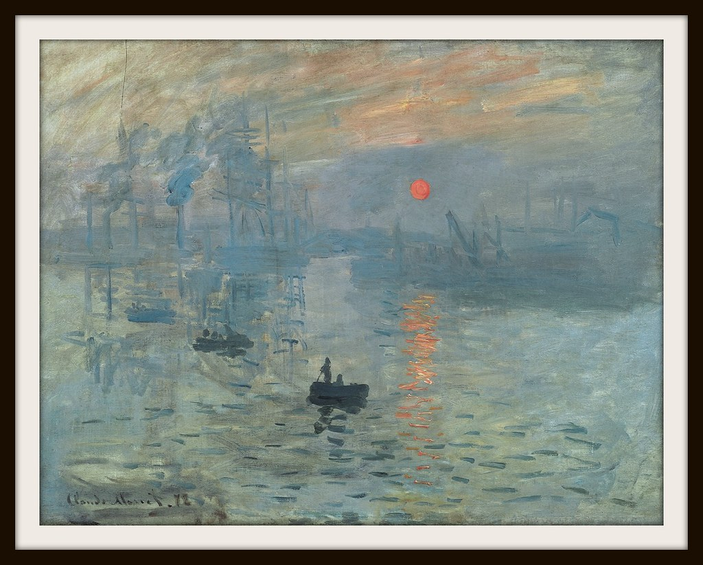 Impression, Sunrise, 1872; the painting that gave its name to the style.