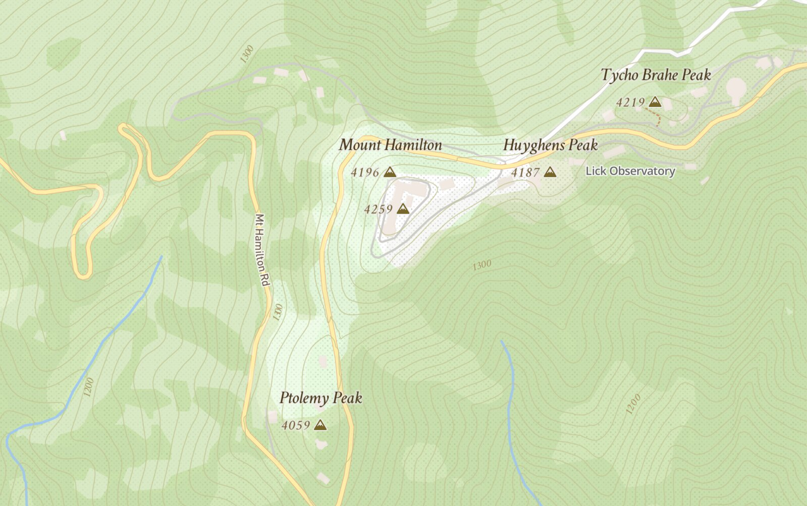 Peak elevations in feet and meters with Mapbox Streets