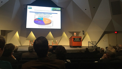 Dr. Ann Bartuska, Deputy Under Secretary for the USDA Research, Education, and Economics (REE) Mission Area, speaking at a Workshop at the National Academy of Sciences, Engineering, and Medicine