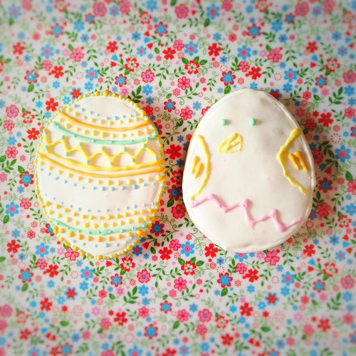Easter Cookies, easter, sugar cookies, decorated, cookies, royal icing, recipe,  復活節, 糖餅乾