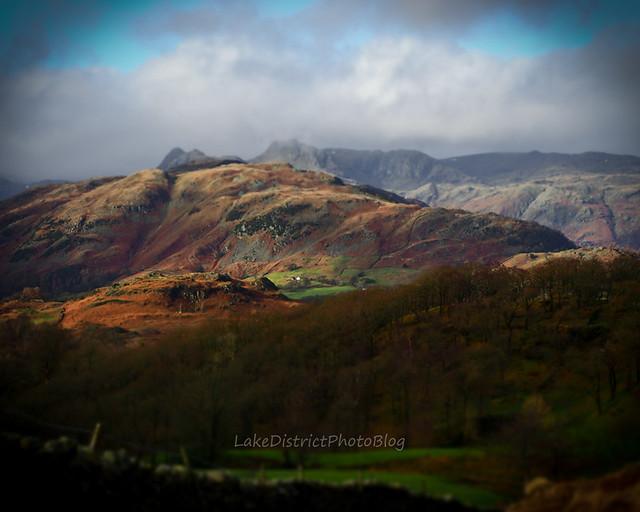 英国 イギリス 湖水地方 風景 自然 山 冬