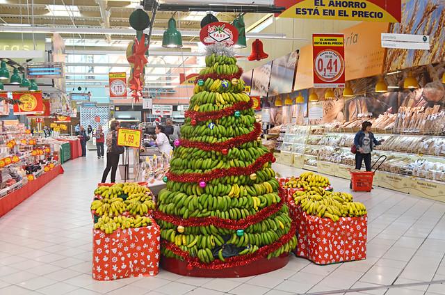 Al Campo Supermarket at Christmas, La Orotava, tenerife