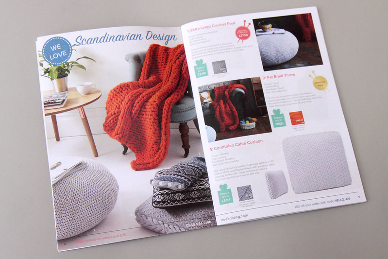 Scandinavian Design feature from LoveKnitting's winter catalogue