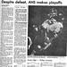 1986 AHS Football scanned newspaper article p022 dated October 26 1986 #AmesHighClassof1986 #AHS1986football #AHS1986 Despite defeat Ames makes playoffs