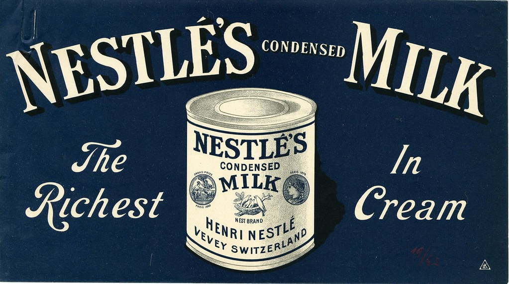 Nestl 233 S Condensed Milk Ad Ca 1900 Please Credit