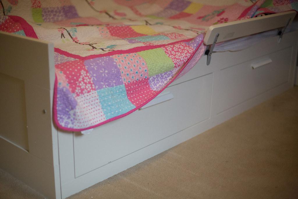 IKEA Brimnes bed with storage