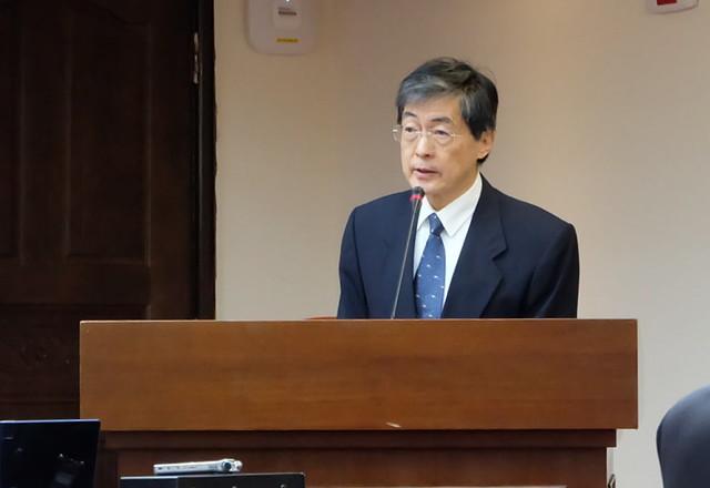 環保署署長魏國彥到立法院報告「第21屆聯合國全球氣候高峰會對我國溫室氣體排放及能源供應對策之影響」攝影:陳文姿