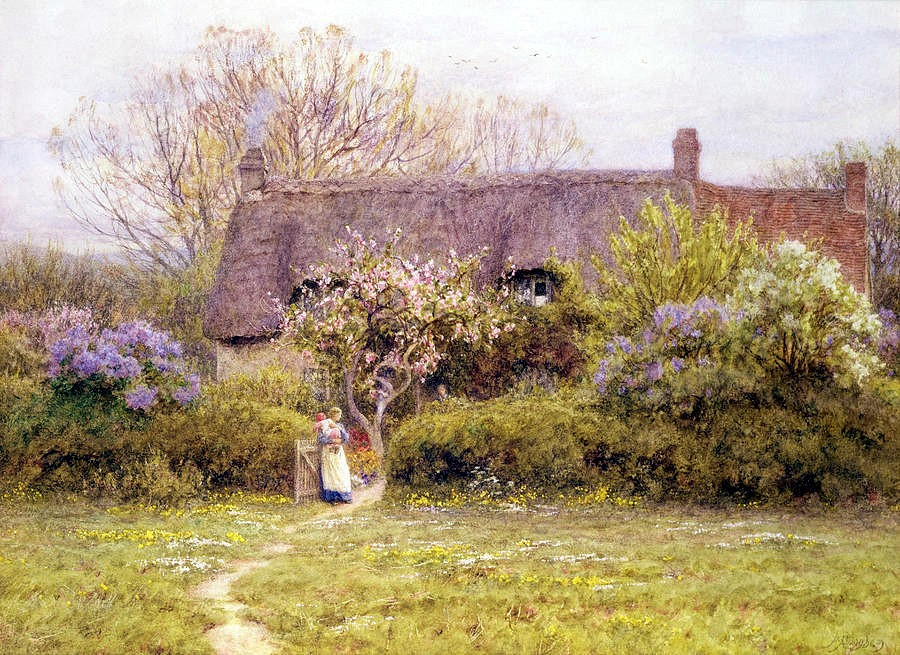 Cottage, Freshwater, Isle of Wight by Helen Allingham