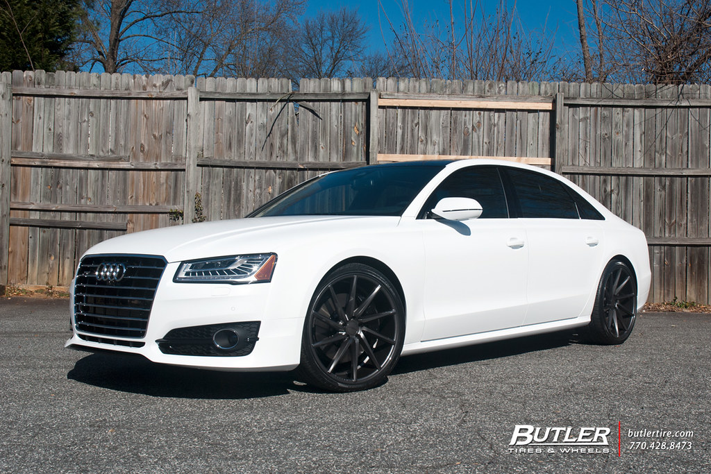 Lowered Matte White Audi A8 With 22in Vossen Cvt Wheels Wi