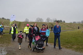 Nicola and family at parkrun