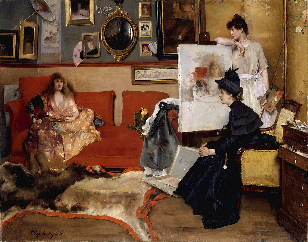 In the Studio by Alfred Stevens, 1888