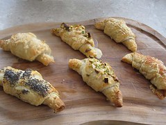 Ham and cheese pastries