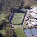 2010-09-29 Aerial View of AHS Football Field, AHS Gymnasium and Ames High School pool, tennis courts and courtyard w permission Snyder & Associates Inc