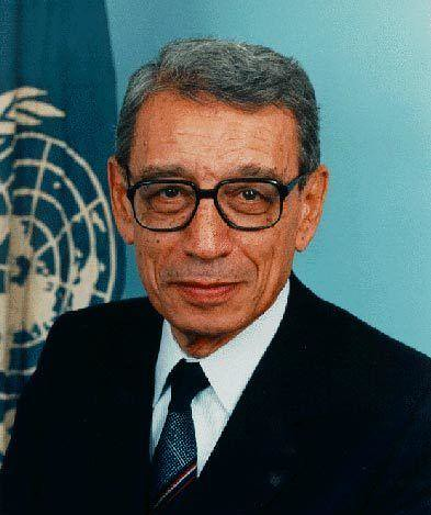 Sixth President of the United Nations Secretary-General Boutros Boutros-Ghali's death, a candidate for the first Africans