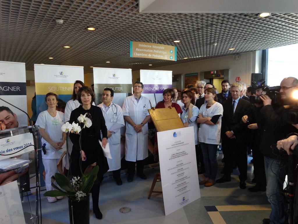 Chru lille mme la ministre avec une partie des profession - Cabinet ophtalmologie des flandres lille ...