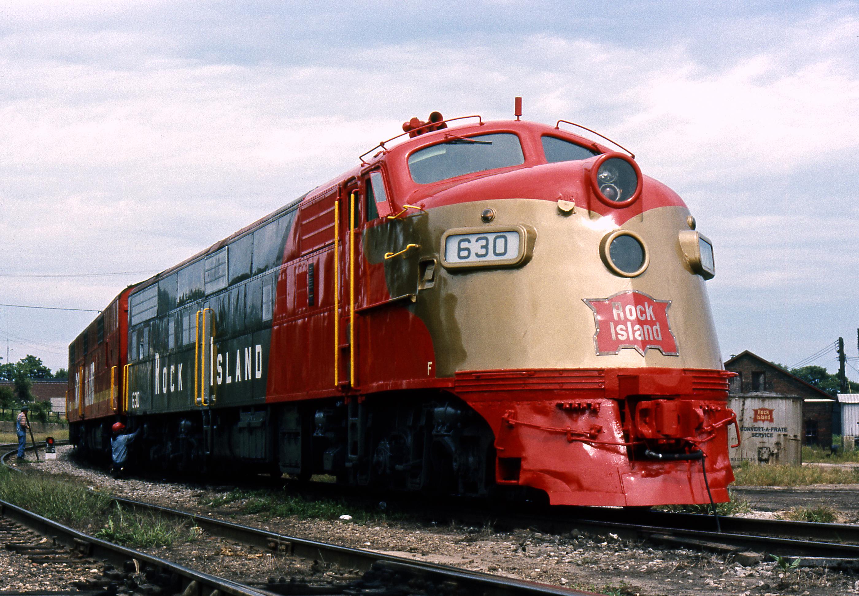 Chicago, Rock Island and Pacific Railroad E6A No. 630 - Peoria, Illinois U.S.A. - September 10, 1972