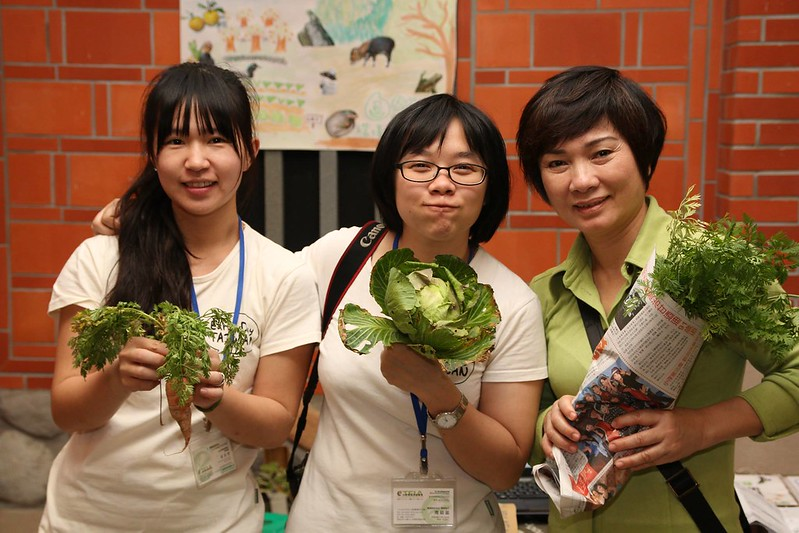來自鹿寮坑的有機蔬菜。攝影:郭叡。