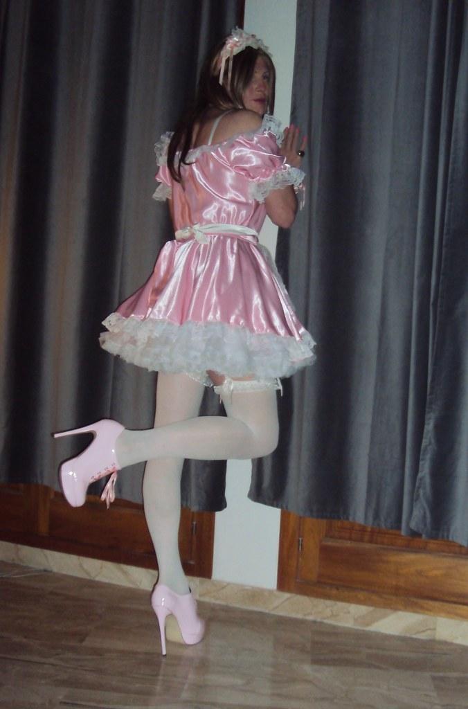 Sissy satin maid spanked amp cum by madamec - 1 part 10