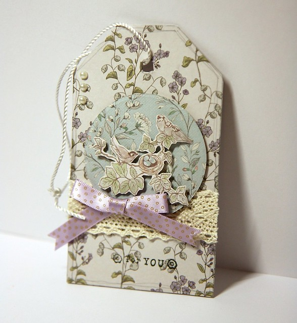 English Garden tag by StickerKitten using Craft Consortium papers