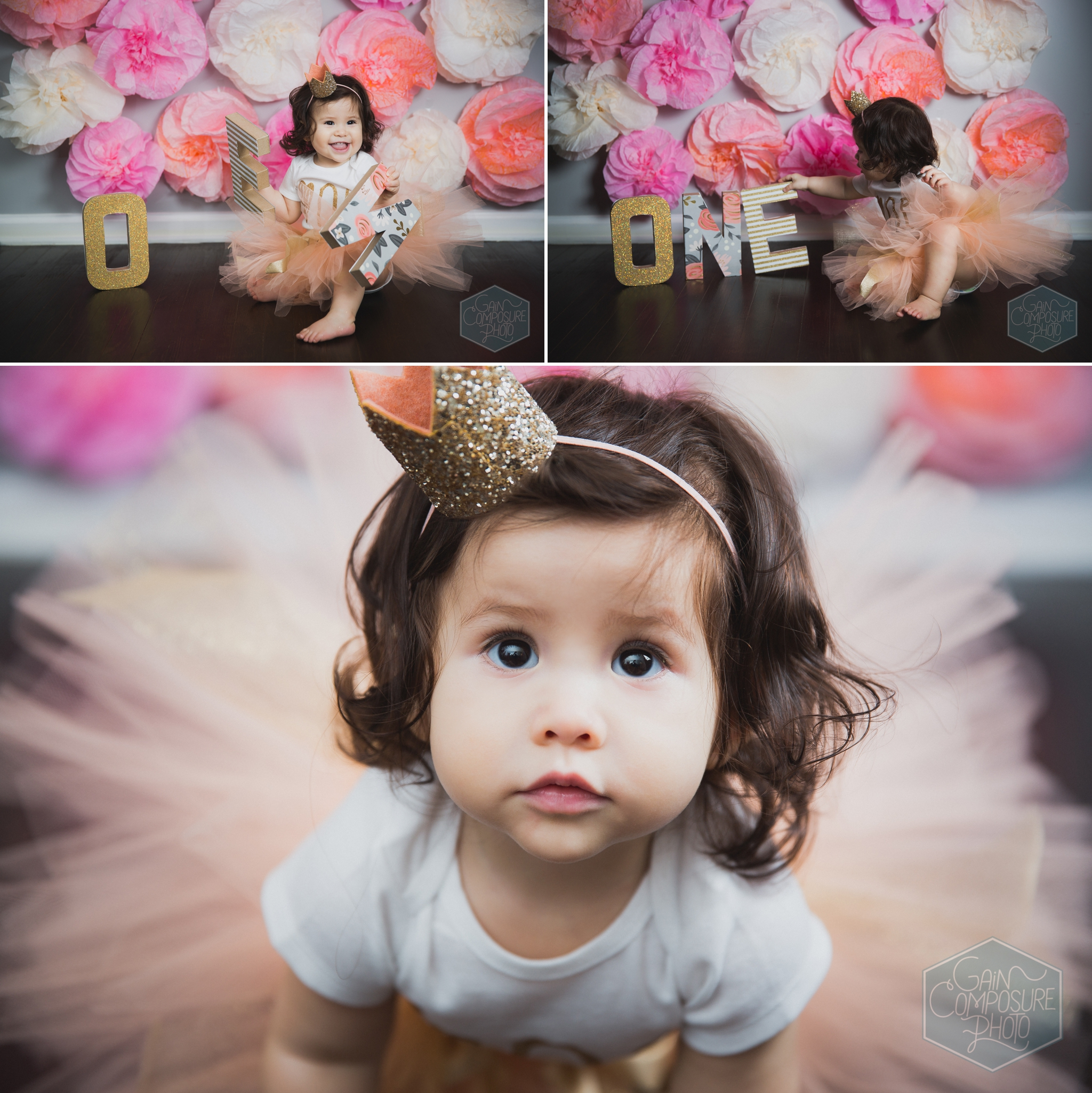 one year old cake smash session paper filter background in north carolina
