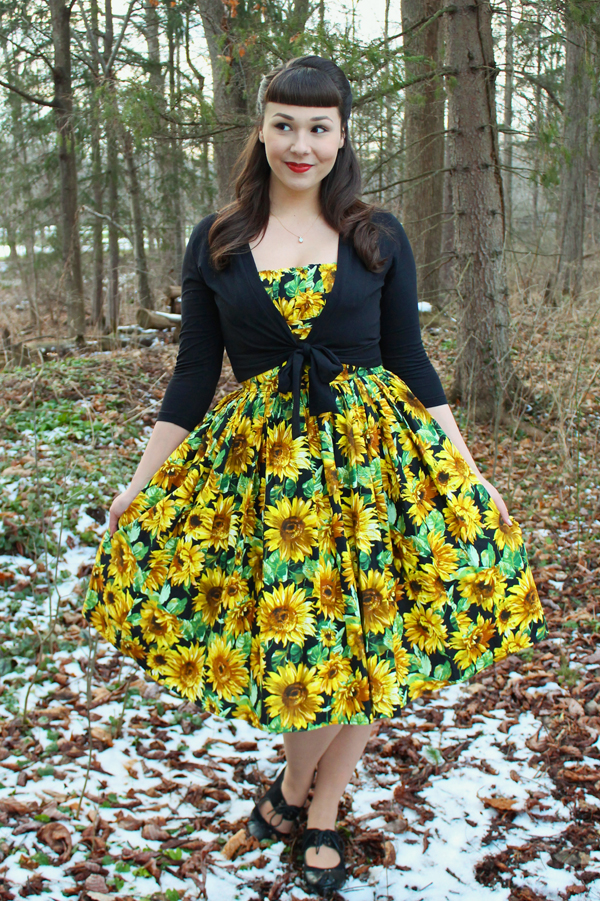 bernie dexter sunflower dress