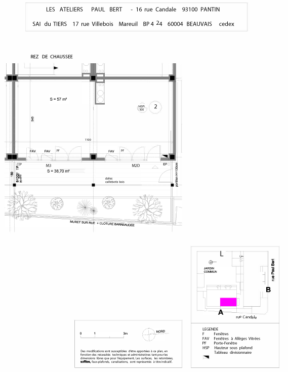 Les Ateliers Pault Bert - Plan de vente - Lot 2